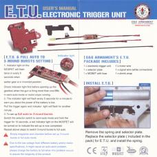 ETU (Electronic Trigger Unit) 2.0 AND MOSFET3.0 Ver.2後方配線対応 + ミリタリートリガーセット[G-11-137] [取寄]