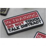 パッチ:IN TRAINING (80x40mm) [TM-0034] RED [取寄]