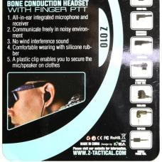 Bone Conductionヘッドセット (骨伝導マイクヘッドセット) with finger PTT ICOM用 [KW-HG-165-BK] [取寄]